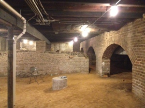 The crypt at Monumental Church. Tour it during Queen Molly's Monumental Moveable Feast, Sunday, Nov. 2nd.